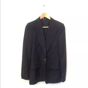 Gucci Jacket Pin Stripe Blazer Career Black 42